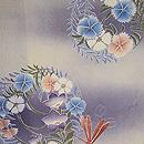 紋錦紗に花丸紋の単衣小紋 質感・風合