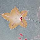 水色暈しに秋の野花単衣訪問着 質感・風合
