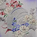 紫暈しに花と虫かごの単衣小紋 質感・風合