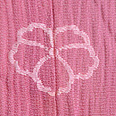 ピンク地虫かごの付下 紋