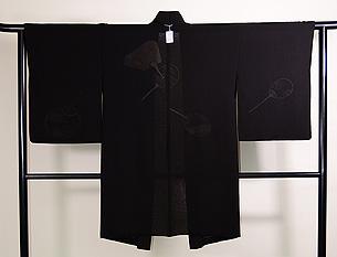 団扇の図紗合わせ羽織