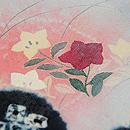 雲取りに秋野の花紋錦紗小紋 質感・風合