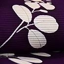 紫地萩の絽地小紋 質感・風合