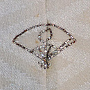 蝶々の単衣訪問着 背紋
