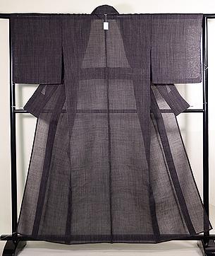 紬屋吉平製 縦縞の越後上布