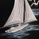 ヨットにカモメの図絽長羽織 質感・風合