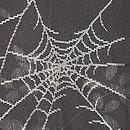 蜘蛛の巣に萩文様単衣羽織 質感・風合