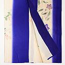 紫苑色暈しに秋草の単衣付下 上前