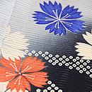 片輪車に秋の野花の絽地小紋 質感・風合