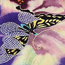江戸紫に蝶々の単衣付下 質感・風合