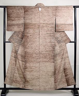 三浦絞りの絽地小紋