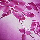 牡丹色に牡丹模様の夏羽織 質感・風合