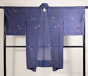 水紋にトンボの夏羽織