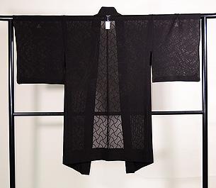 分銅繋ぎ文様の紗羽織