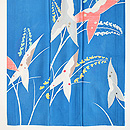 ブルー絽地沢鷹の訪問着 上前