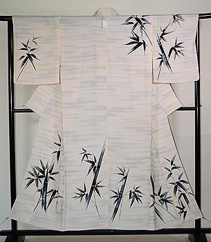 白地竹林の図付下