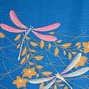 萩にとんぼ文様絽小紋 質感・風合