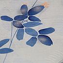 秋草花束文様絽小紋 質感・風合