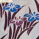 菖蒲の絽地小紋 質感・風合
