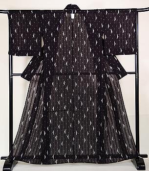 明石縮の着物