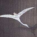 雁の織り出し単衣羽織 質感・風合