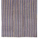 ざざんざ織 縹色縦縞の単衣 上前