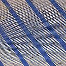 ざざんざ織 縹色縦縞の単衣 質感・風合