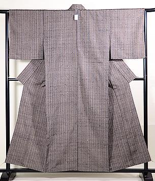 やたら縞のざざんざ織単衣