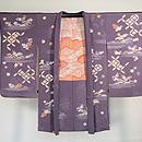 霞に四季の花と七宝文様絵羽織 正面