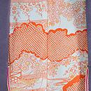霞に四季の花と七宝文様絵羽織 羽裏