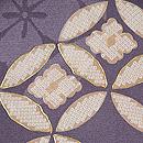 霞に四季の花と七宝文様絵羽織 質感・風合
