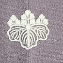 霞に四季の花と七宝文様絵羽織 背紋
