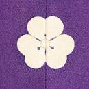 紫地松皮菱取御簾に花籠の色留袖 背紋