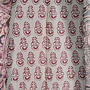 カシミール シルクウールの羽織 羽裏