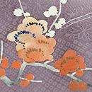 すみれ色暈しに四季の花文様訪問着 質感・風合