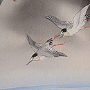 波頭、月に雁、蔦の羽織 質感・風合