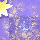 紫地散り紅葉の羽織 質感・風合