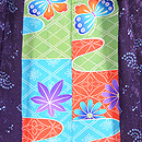 二藍色竜田川の絵羽織 羽裏