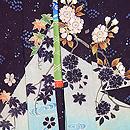 二藍色竜田川の絵羽織 質感・風合