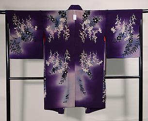 紫暈しコスモスと野菊の羽織