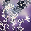 紫暈しコスモスと野菊の羽織 質感・風合