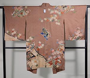 草子紋様絵羽織