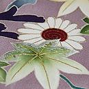 紅藤色菊に紅葉文様訪問着 質感・風合
