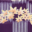 石畳紋に秋草の散歩着 質感・風合