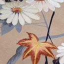 紅葉に菊文様小紋付下 質感・風合