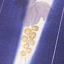 よろけ縞に山葡萄の小紋 質感・風合