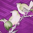 柿の木に野鳥の羽織 質感・風合