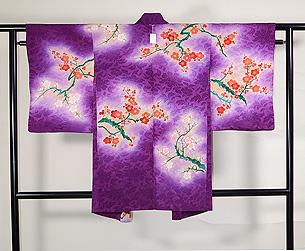 梅の図羽織