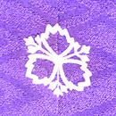 絞りに花丸紋の刺繍訪問着 背紋