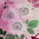 花籠に桜と牡丹の付下 質感・風合
